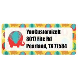 Cute Elephants Return Address Label (Personalized)