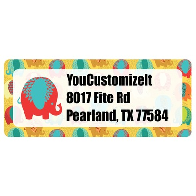 Cute Elephants Return Address Labels (Personalized)