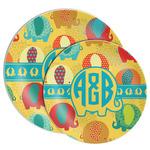 Cute Elephants Melamine Plate (Personalized)