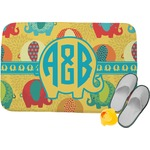 Cute Elephants Memory Foam Bath Mat (Personalized)