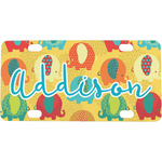 Cute Elephants Mini / Bicycle License Plate (Personalized)