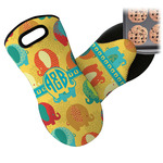 Cute Elephants Neoprene Oven Mitt (Personalized)