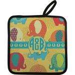 Cute Elephants Pot Holder (Personalized)