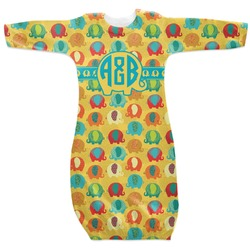 Cute Elephants Newborn Gown (Personalized)