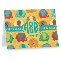 Cute Elephants Note cards (Personalized)