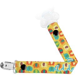 Cute Elephants Pacifier Clips (Personalized)