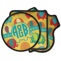 Cute Elephants Iron on Patches (Personalized)