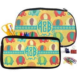 Cute Elephants Pencil / School Supplies Bag (Personalized)