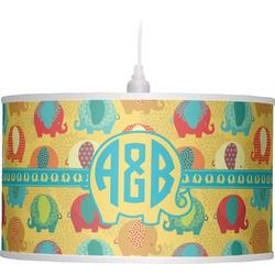 Cute Elephants Drum Pendant Lamp (Personalized)