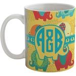 Cute Elephants Coffee Mug (Personalized)