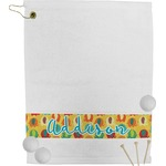 Cute Elephants Golf Towel (Personalized)