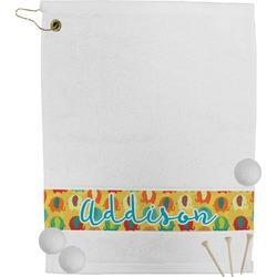 Cute Elephants Golf Towel (Personalized)