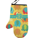 Cute Elephants Left Oven Mitt (Personalized)