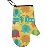 Cute Elephants Right Oven Mitt (Personalized)
