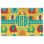 Cute Elephants Laminated Placemat w/ Couple's Names