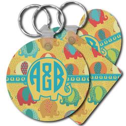 Cute Elephants Plastic Keychains (Personalized)