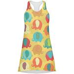Cute Elephants Racerback Dress (Personalized)