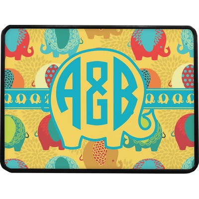 Cute Elephants Rectangular Trailer Hitch Cover (Personalized)