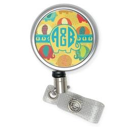 Cute Elephants Retractable Badge Reel (Personalized)