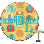 Cute Elephants Round Table (Personalized)