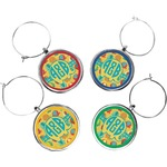 Cute Elephants Wine Charms (Set of 4) (Personalized)