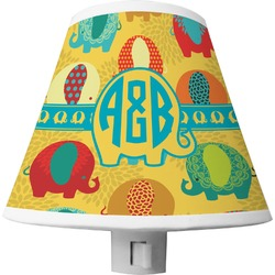 Cute Elephants Shade Night Light (Personalized)