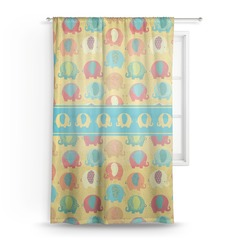 Cute Elephants Sheer Curtains (Personalized)