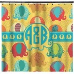 Cute Elephants Shower Curtain (Personalized)