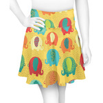 Cute Elephants Skater Skirt (Personalized)
