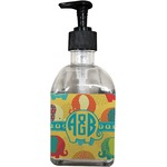 Cute Elephants Soap/Lotion Dispenser (Glass) (Personalized)