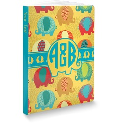 Cute Elephants Softbound Notebook (Personalized)