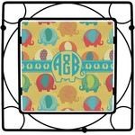 Cute Elephants Square Trivet (Personalized)
