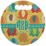 Cute Elephants Stadium Cushion (Round) (Personalized)