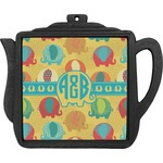 Cute Elephants Teapot Trivet (Personalized)