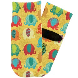 Cute Elephants Toddler Ankle Socks (Personalized)