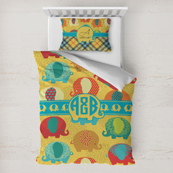 Cute Elephants Toddler Bedding w/ Couple's Names