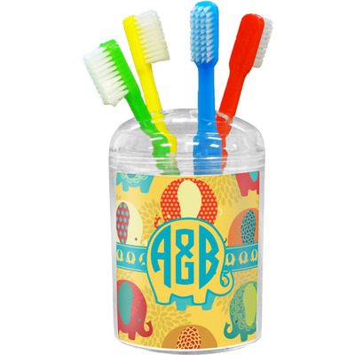 Cute Elephants Toothbrush Holder (Personalized)