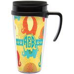 Cute Elephants Travel Mug with Handle (Personalized)