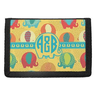 Cute Elephants Trifold Wallet (Personalized)