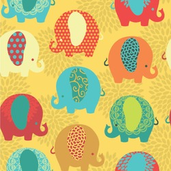 Cute Elephants Wallpaper & Surface Covering