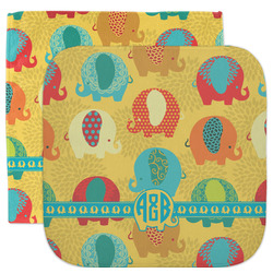 Cute Elephants Facecloth / Wash Cloth (Personalized)