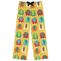 Cute Elephants Womens Pajama Pants (Personalized)