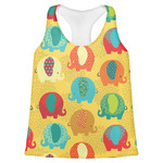 Cute Elephants Womens Racerback Tank Top (Personalized)