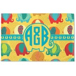 Cute Elephants Woven Mat (Personalized)
