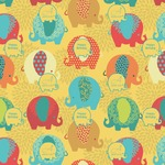 Cute Elephants Wrapping Paper (Personalized)