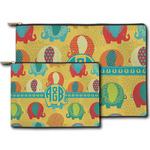 Cute Elephants Zipper Pouch (Personalized)