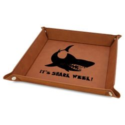 Sharks Faux Leather Valet Tray (Personalized)