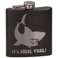 Sharks Black Flask Set (Personalized)