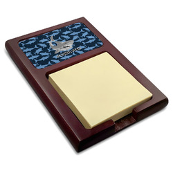Sharks Red Mahogany Sticky Note Holder w/ Name or Text