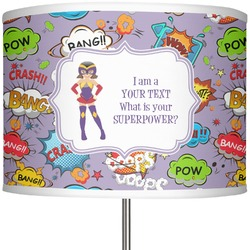 "What is your Superpower 13"" Drum Lamp Shade (Personalized)"
